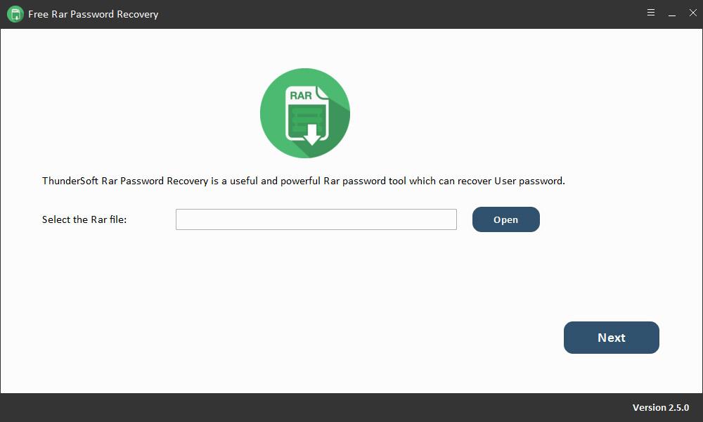 Click to view Free RAR Password Recovery 2.5.0.1225 screenshot